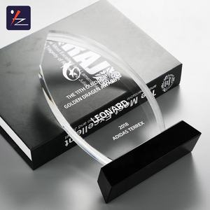 Hot selling blank cheap crystal glass trophy award for business gift