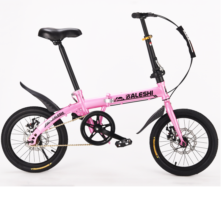 "16"" Size Single Speed Folding Road Bicycle Children's Mini Foldable Bike 4 color,Green"