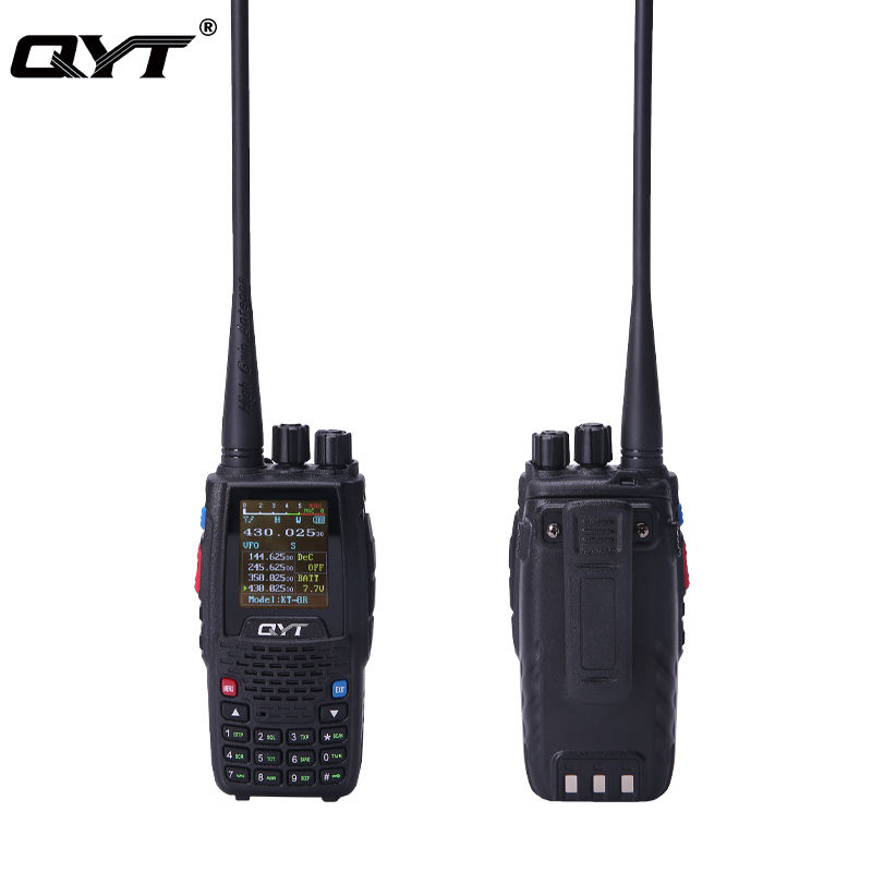 QYT 5 Watt analogique portable VHF UHF quad bande talkie-walkie excellente qualité fm émetteur radio pratique talkie-walkie
