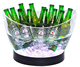 custom BPA free plastic luminous ice bucket for champagne acrylic led boat beer barrel for ktv bar