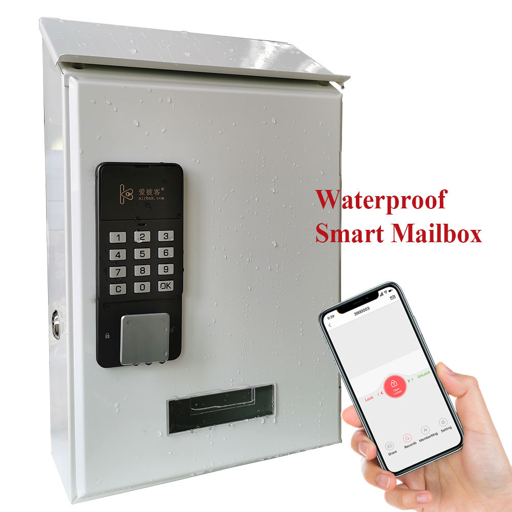 Token Security Bluetooth Unlock Smart Mailbox For Home Apartment Wall Mounted Letter Box Outdoor Metal Mail Box Mailbox