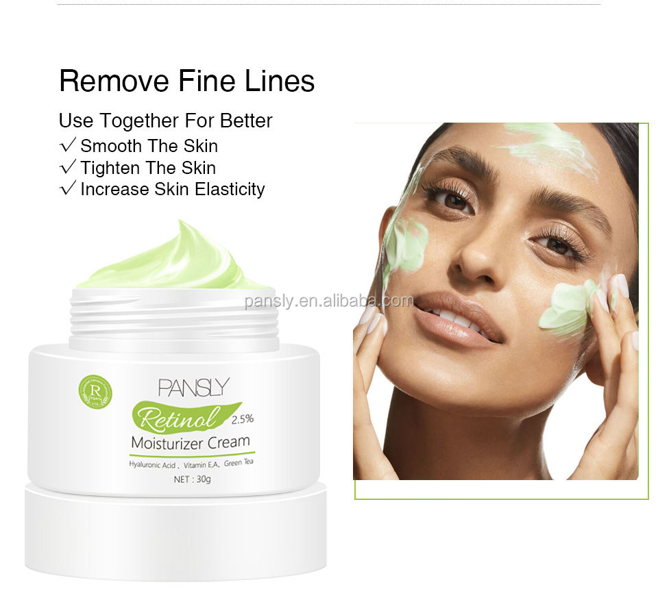 Super Hot Natural Organic Green Tea Whitening Cream for Anti- Wrinkles Fine Lines Skin Face Whiltening Cream
