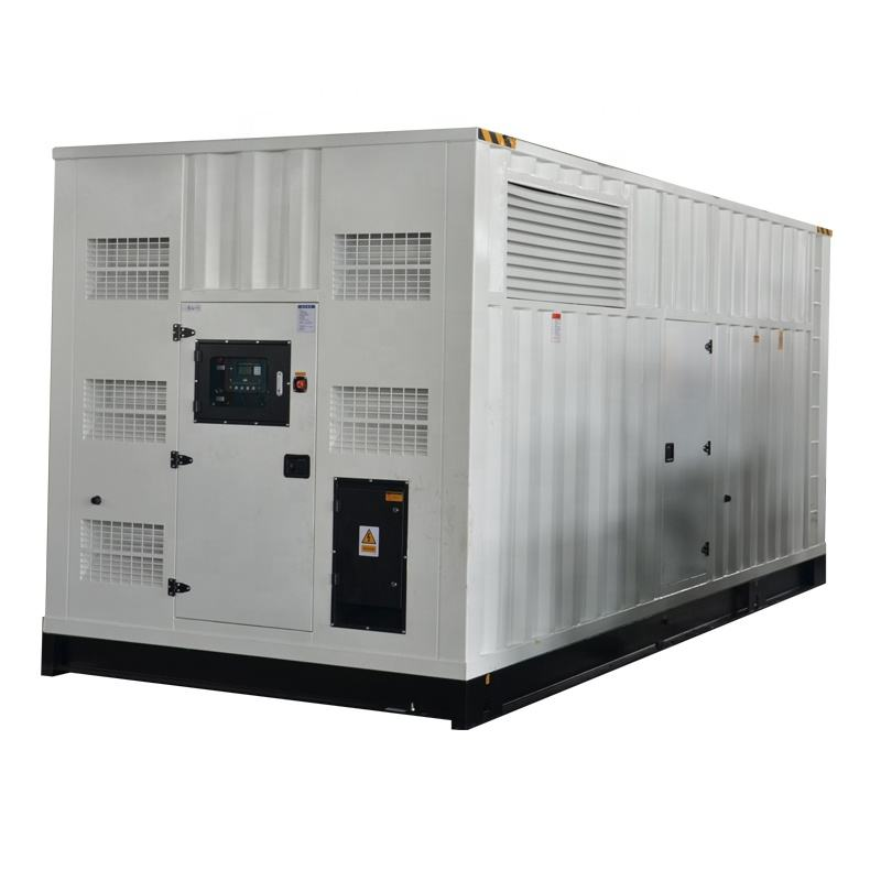 Continuous power diesel genset MTU 1300kw silent generator 50Hz containerized type