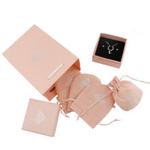 Beauty Pink Unique Design Jewelry Packaging Box Set Jewelry Gift Box For Jewelry Packing