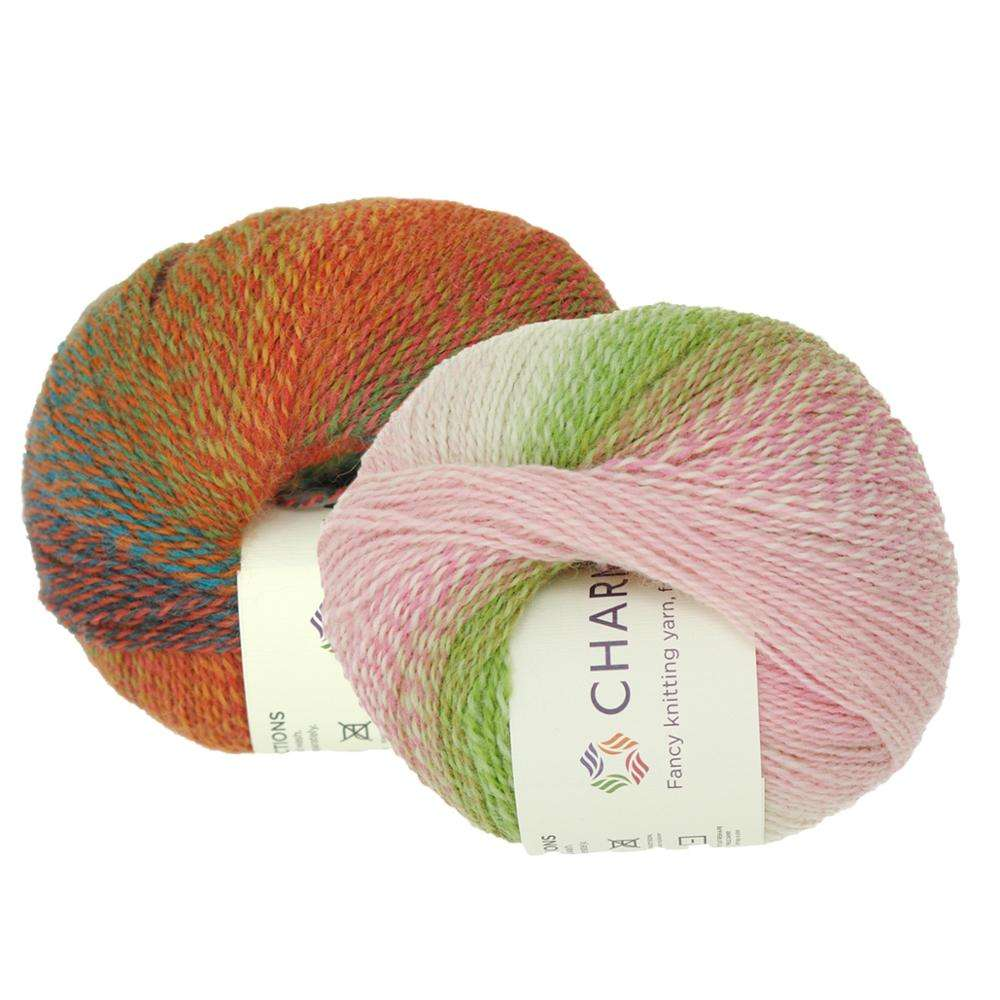 Retail Online Shopping Charmkey Wool Blended Yarn Fancy Knitting Yarn for Sweater and Scarf