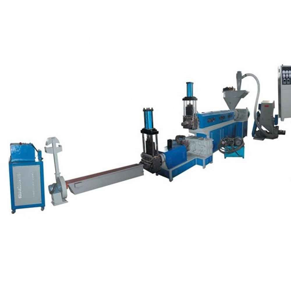 water cooling type PP PE LDPE HDPE polythene film waste plastic bags recycling granulating machine price