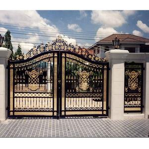 Main latest double door wrought iron gates designs wood steel garden driveway entrance gate