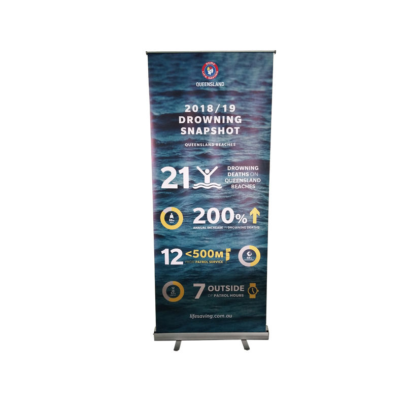 Customizable advertising standard size roll up stand roll up banner