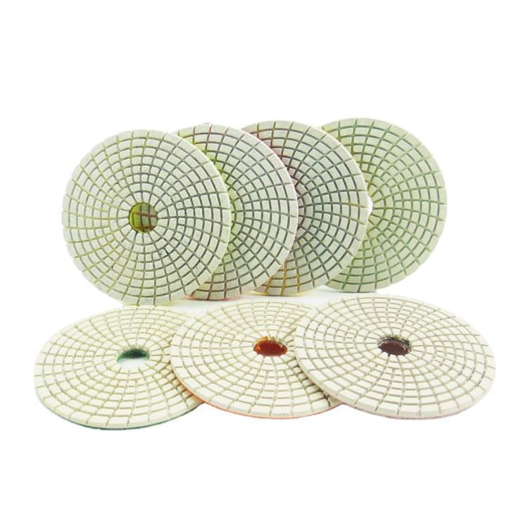 100mm Diamond Marble Stone Dry Polishing Pad Diamond polishing pad for stone granite Dry Wet Granite Polishing Pad