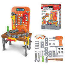 Toy tools play set workbench workshop plastic toy tool set
