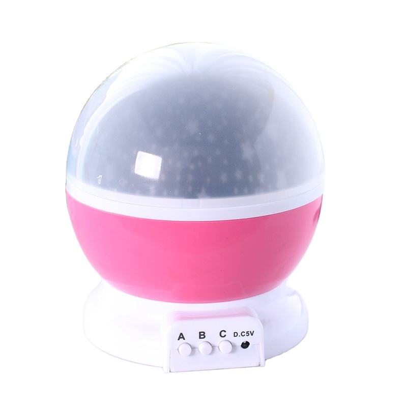 Fantasy colorful automatic rotating romantic star projection Christmas decorative lighting