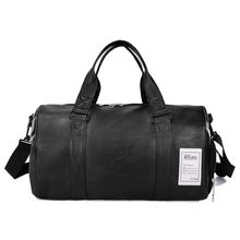 folding waterproof mens travel bag custom leather duffle bag with shoe compartment