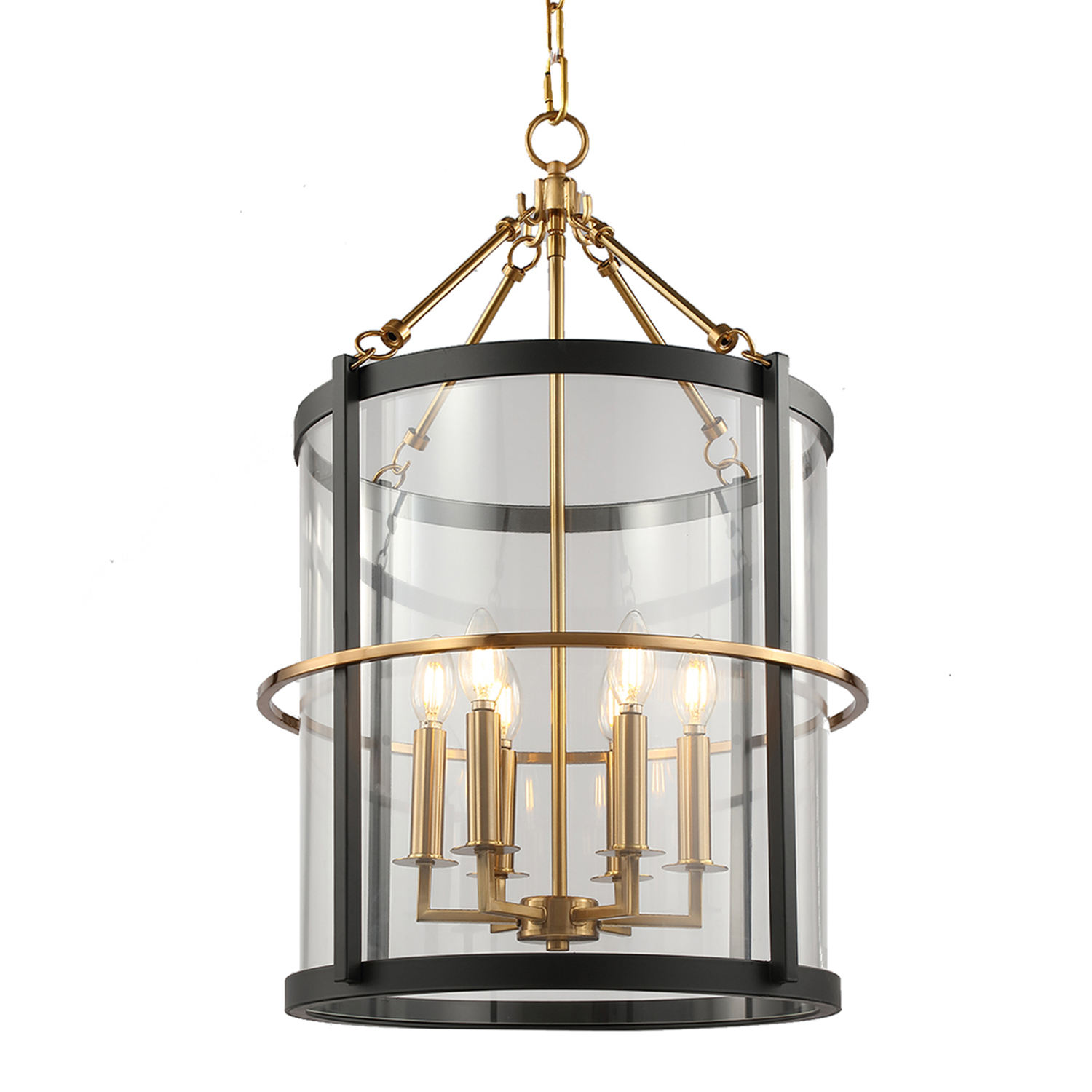 2020 Modern Iron Black & Brass Finish Clear Glass Pendant Lamp Black Pendant Lights for Home Decorate your Home Ceiling Light