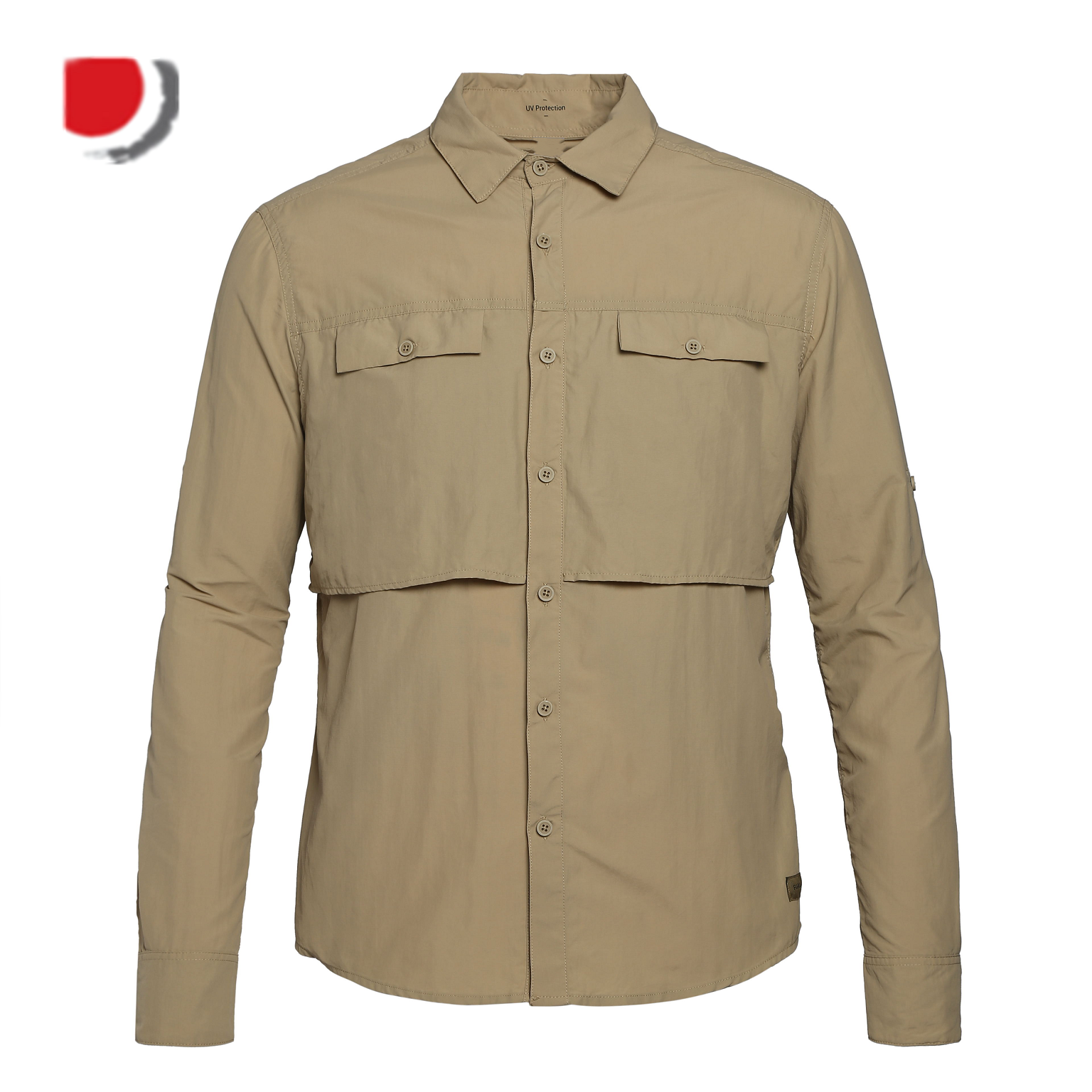 UV Protection Performance Mens Fishing Shirts With Vents