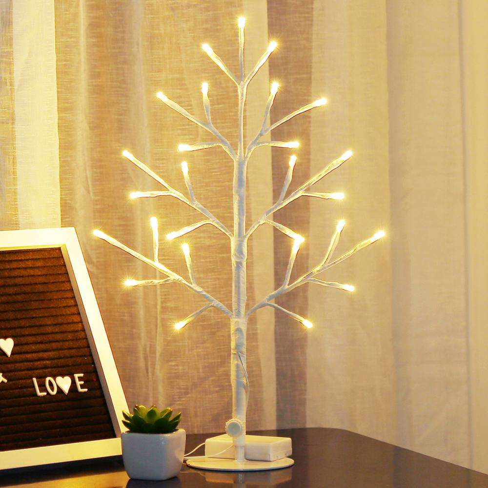 Bolylight LED Plane Birch Tree Christmas Tree Light Decorations for Home/Bedroom/Desk