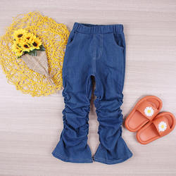 Boutique wholesale Casual Girls cowboy stacking pants Joggin