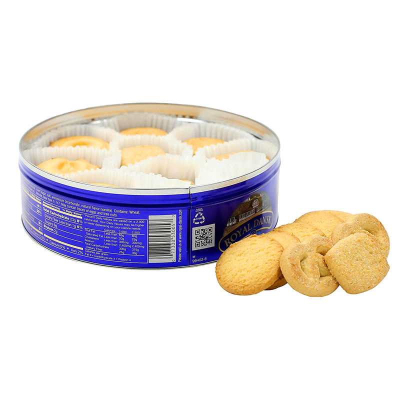 Round Shape Cake Storage Box Cookie Can Container Gift Tins Camber Concave Lid Chocolate Biscuit Metal Tin Box