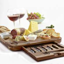 Exquisite Acacia Wood Cheese Board & Utensils Gift Set for Kitchen
