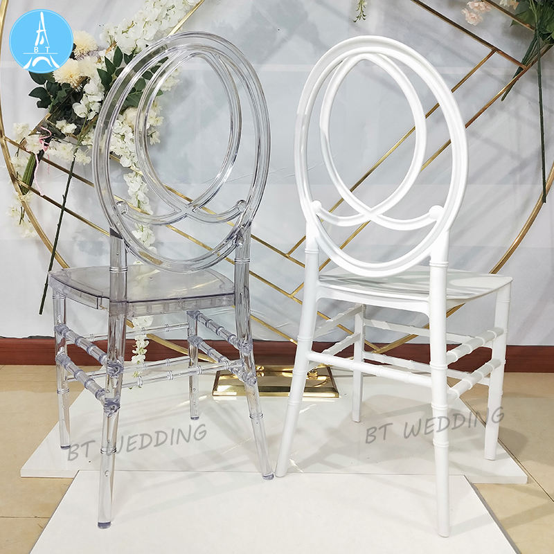 modern clear crystal transparent tiffany acrylic phoenix chairs for wedding room and events