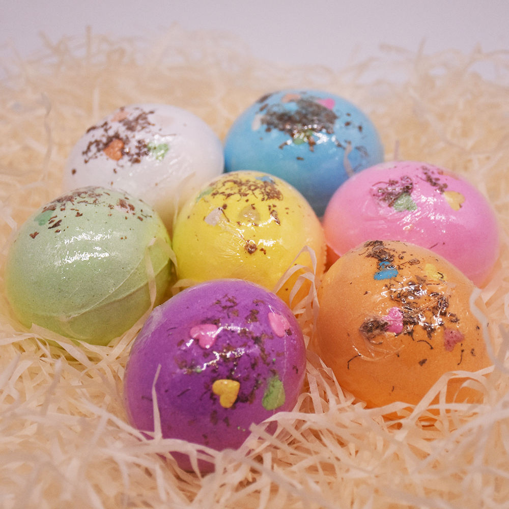 AKIACO high quality ice cram cruelty free natural yoni herb funny rainbow round shape bath bombs