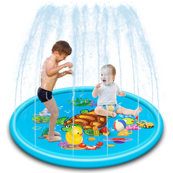 Summer outdoor play games inflatable water Turtle spray mat children's water play mat for sale