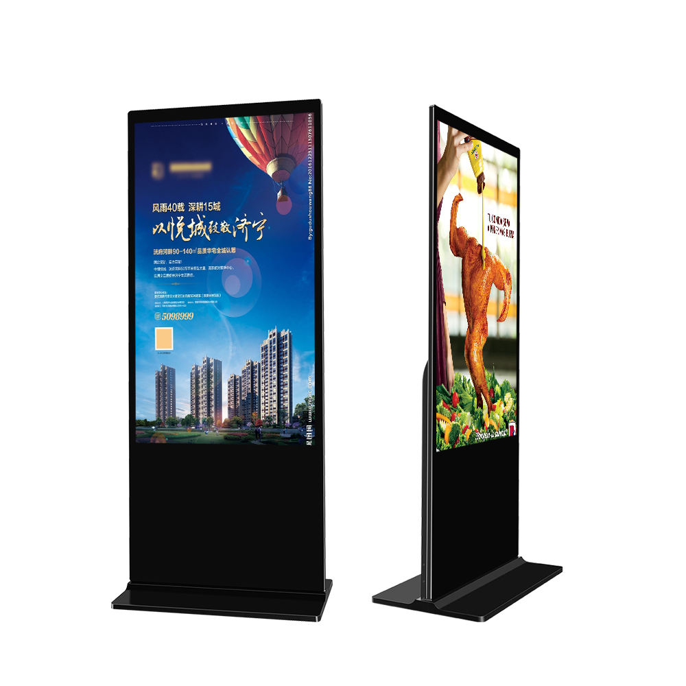 Free Sample 65 inch Indoor Floor Stand Wifi lcd Interactive Digital Signage and Displays Advertising Player Kiosk Anzeige