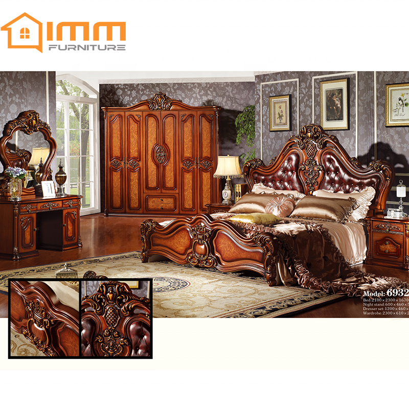 Foshan Manufacturer King Size Bedroom Sets Luxury King Size Furniture