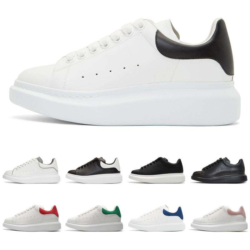 2020 fashion luxury designer shoes platform sneakers for men women black white suede leather mens trainer casual sports shoes