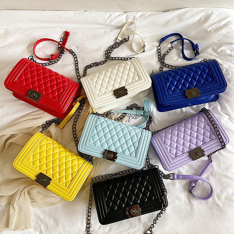Channel Style Luxury Small Shoulder Handbag PU Leather For Girls Candy Color Crossbody Mini Women Purses and Handbags