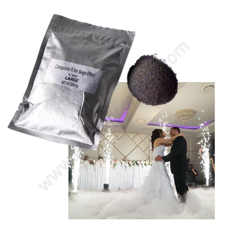 Titanium Composite Special Effect Wedding Firework Ti Powder For Indoor Outdoor Stage Fountain Sparkler Cold Spark Machine
