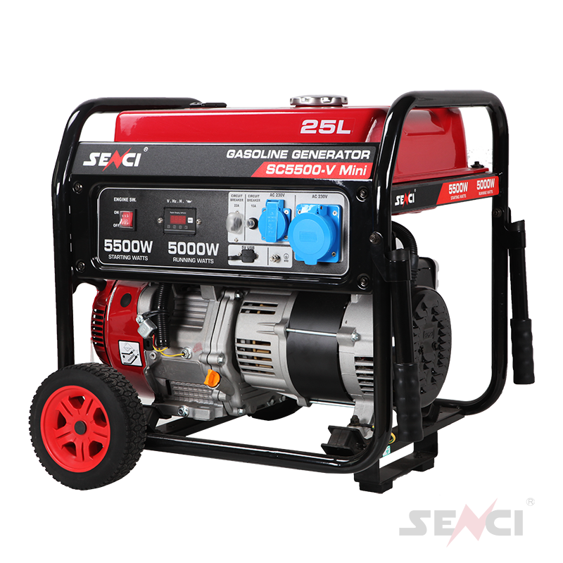Senci Open Frame Wheel Power Small Portable Generator Gasoline 5KW Generac