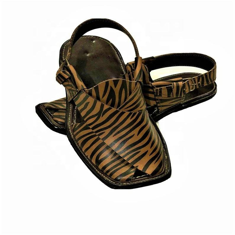 Men Tiger Style Peshawari Sandal Comfortable Rubber Sandal Genuine Leather Sandal