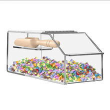 Supermarket Food Retail Container Box Clear Acrylic Candy Bin with Scoop Holder