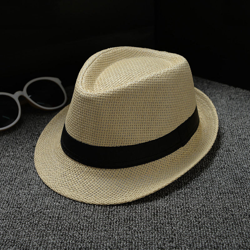 High quality hot sale children paper straw panama hat kids fedora hat