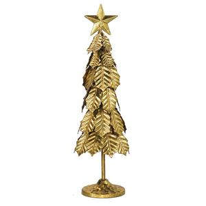 IVY Gold Metal Christmas Tree with Star for Christmas Table Home Decoration