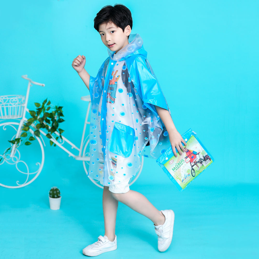 PVC new style raincoats for children kids rain coat for kids printed colorful and cute raincoats
