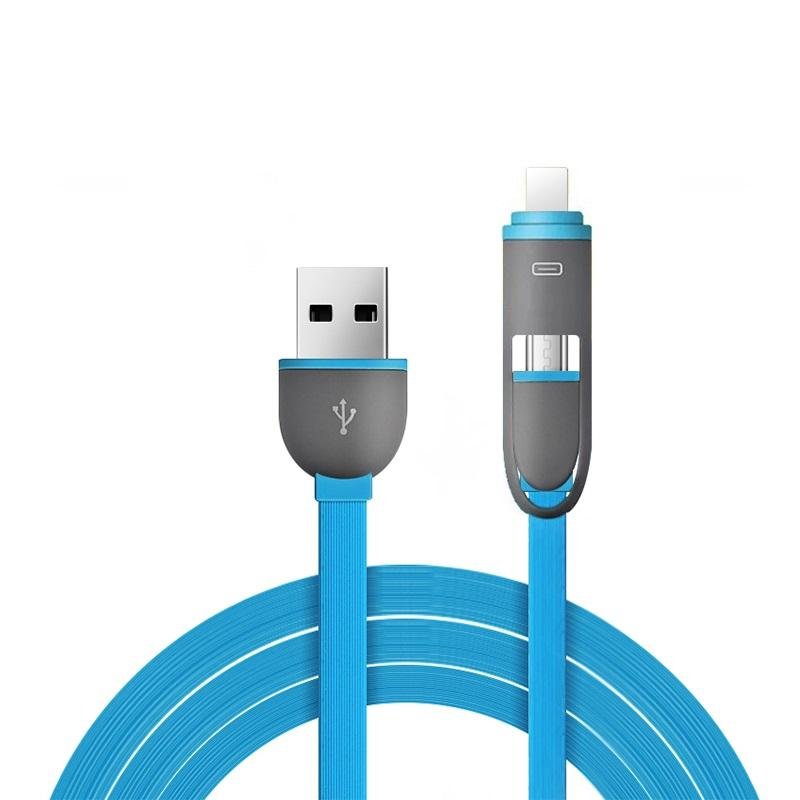 lafalink flat cable for apple cable usb tipo c led usb cable 2 in 1
