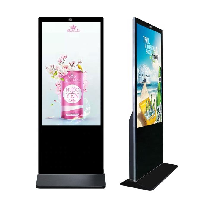 "43"" 49"" 55 inch Standalone digital signage and displays Floor standing Indoor Ultra Slim lcd advertising player kiosk"