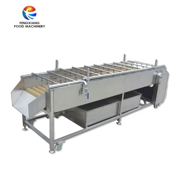Industrial Brush Type Water Water Circulation Fruit Washing Machine