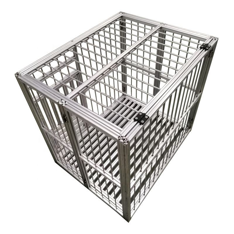 Strong aluminum alloy large folding dog house pet kennel cages creates