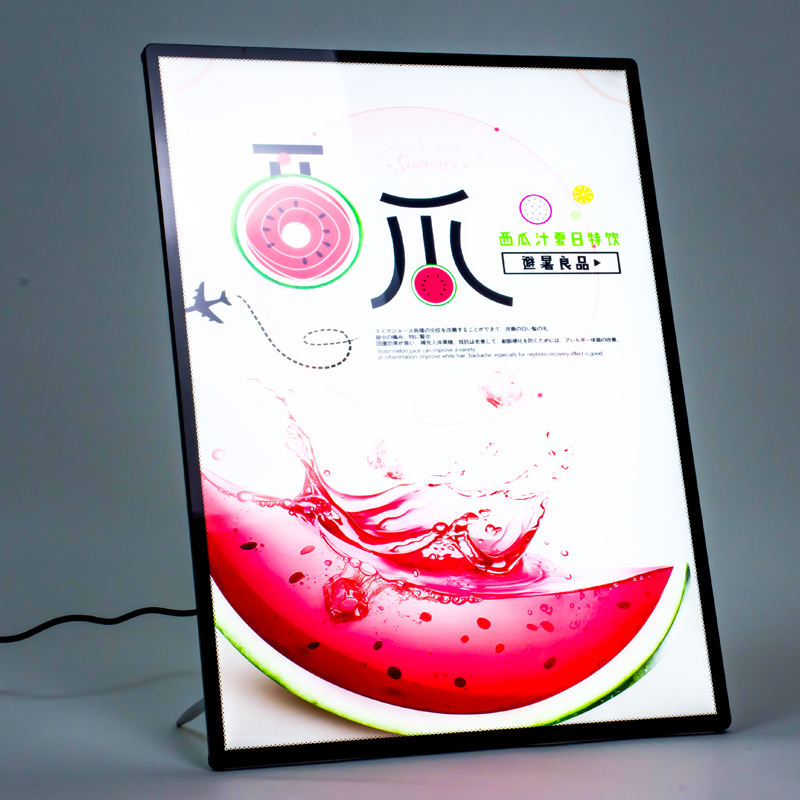 Led menu a2 acryl teken houder schuine led menu board a1