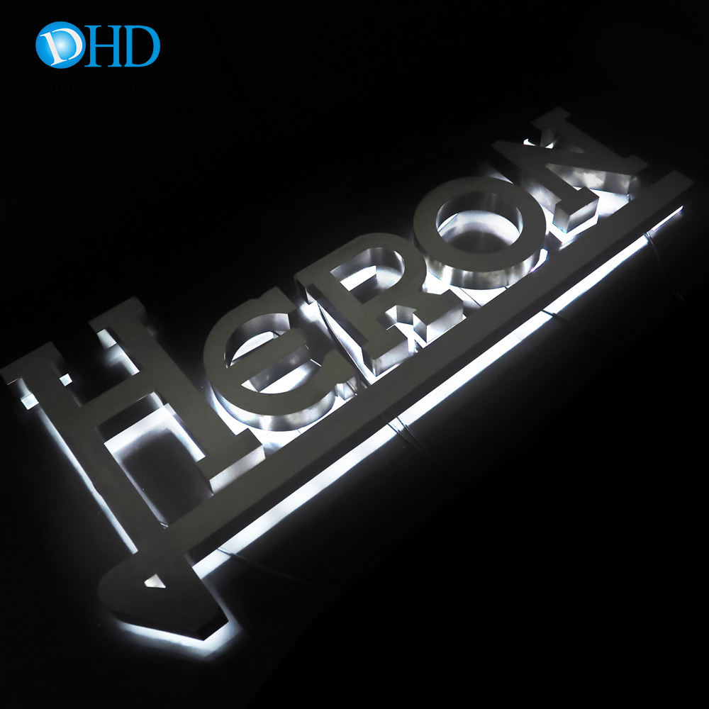 Wholesales plastic luminous house numbers alphabet channel letters for office store front signs