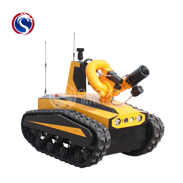 RXR-M40D-11Kt intelligent crawler tracks electrical undercarriage fire fighting robot