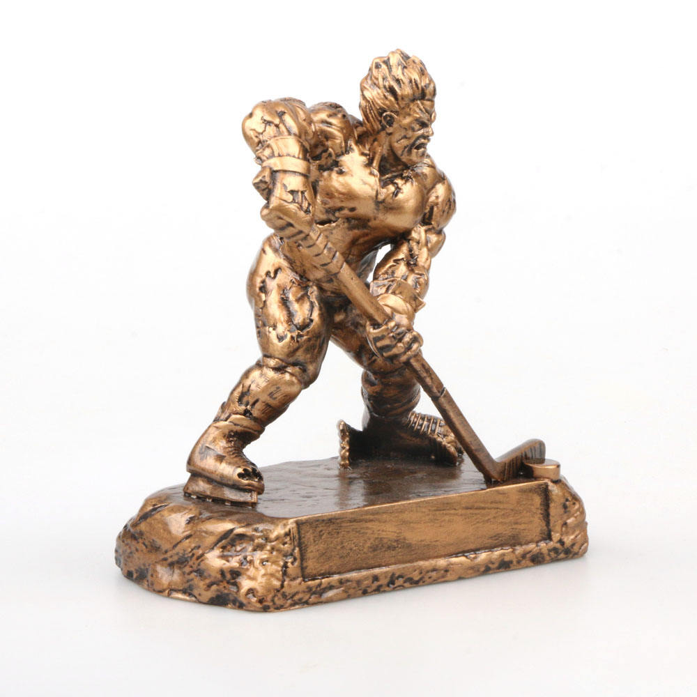 Ripped man resin figurine ice hockey souvenir gift ice hockey trophy cup