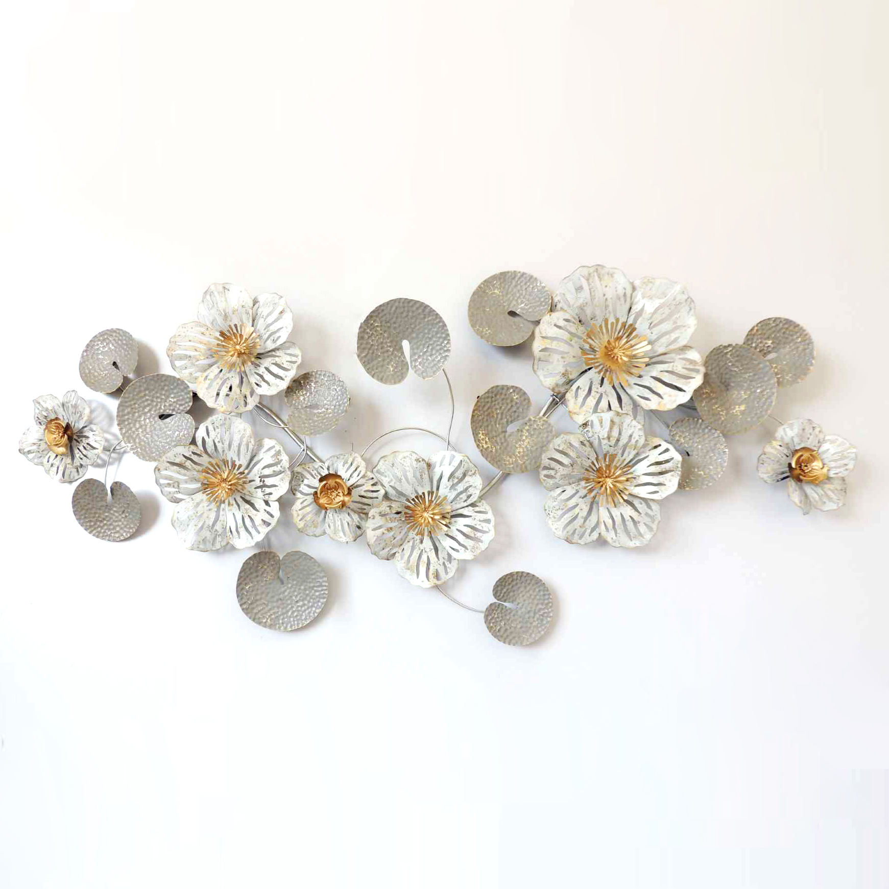 Art Flower Iron Metal Decoration Items iron metal wall decoration for Living Room