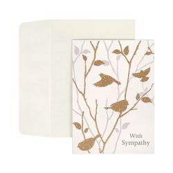 Wholesale Gold Glitter Bird Sympathy Cards, Custom Paper Printing Greeting Cards with Envelopes
