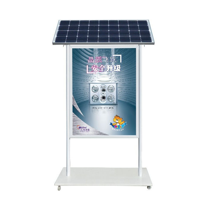 Double sides Outdoor Waterproof Solar led advertising board with Trash Can