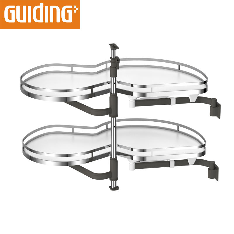 Guiding Kitchen cabinet accessories magic corner kitchen storage with soft closing channel