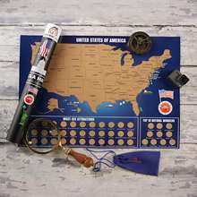 Scratch Off Map of The United States Brilliant Color Travel US Map Explore USA Attractions Top 10 Wonders and National Parks
