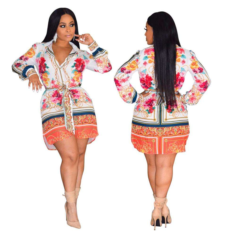 Spring Women African Print Long Sleeve Blouse